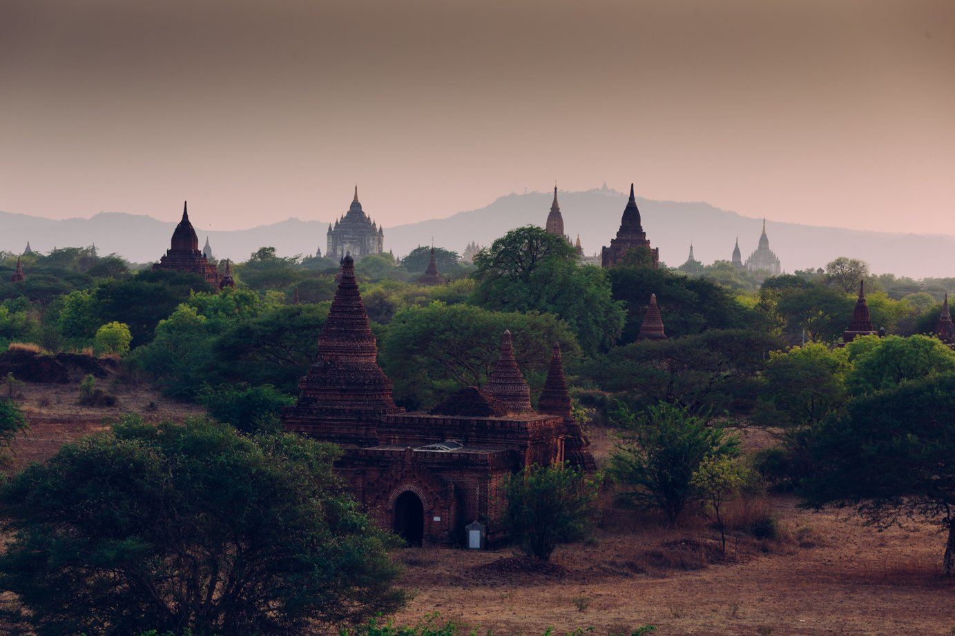 Bagan zachód słońca