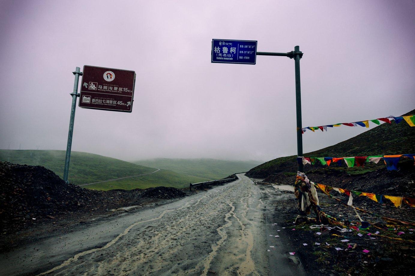 syczuan - przełęcz