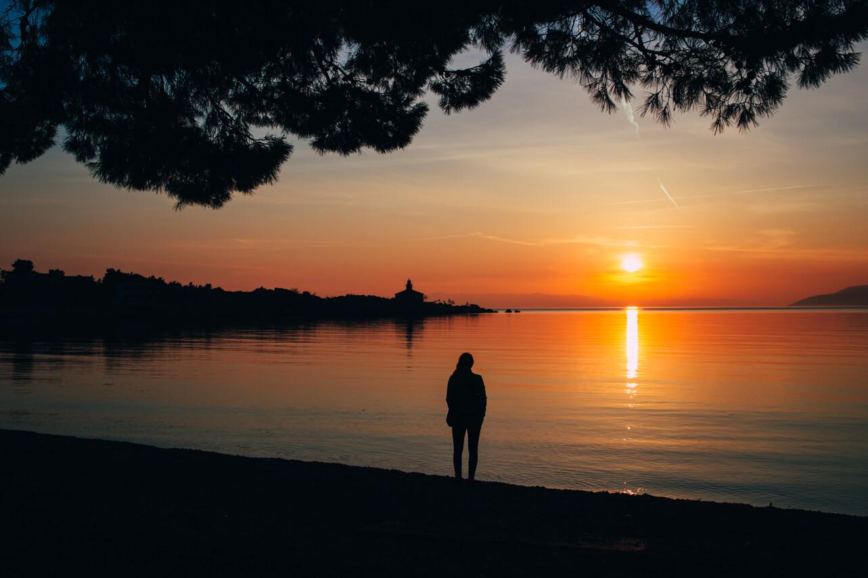 Makarska-Chorwacja-Zachód Słońca